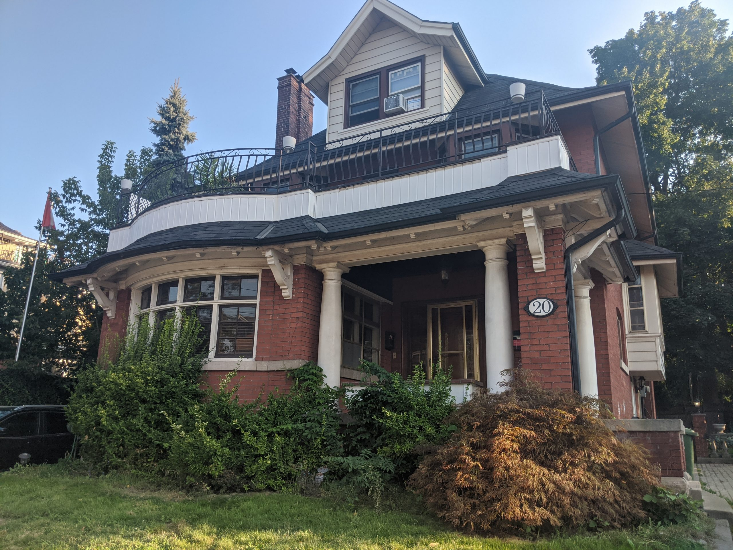 Front of this century home has tons of beauty and character